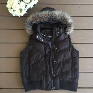 GAP Brown Down Puff Vest